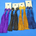 "Best Buy 6"" Tassel Style Fashion Earrings Many Colors .56 per pair"