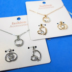 Gold & Silver Interchangeable Pendant Gift Set Necklace .58 per set