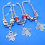 Pandora Style Charm Bracelets Silver w/ Angel Charm  .56 ea