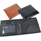 Leather Look  Black & Brown Men's Bi Fold Wallets .62 each