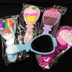 "5.25"" Cup Cake Theme Pocket Hair Brushed Asst Styles & Colors 12 per pk .56 each"