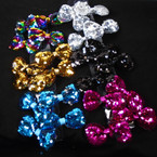 "3"" Asst Color Change Color Sequin Gator Clip Bows  24 per pk .27 each"
