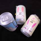 "3.25"" Tall Soda Can Look Bunny Theme Keychain  w/ Wet Wipes   .62 each"