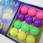 "2.5"" Light Up Bounce Balls Mixed Colors per display bx .58 each"