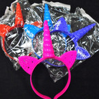 Popular Flashing Unicorn Novelty Headbands 12 per pk .65 each
