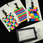 "4"" Colorful Mixed Style Luggage Tags 12 per pk .58 each"