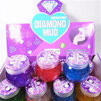 Glitter Diamond Mud Slime w/ Gemstones 12 per display bx .58 each