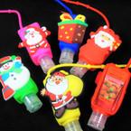 "3"" Christmas Theme Scented Hand Santizers 12 per pk (5788)   @ .56 ea"
