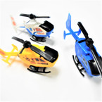 "6"" Pull Back Action Toy Helicopters 12 per pk 3 colors  .58 each"