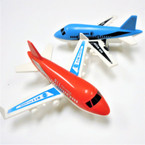 "5"" Pull Back Action Plane 12 per pk 2 colors  .58 each"