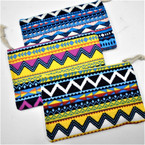 "Large 5.5"" X 9"" Zipper All Purpose Bags Aztec Theme 12 per pk .65 each"