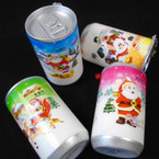"3.25"" Tall Soda Can Look Christmas Theme Keychain  w/ Wet Wipes   .62 each"