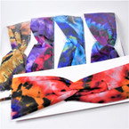 "Trending 2.75"" Stretch Headband  Dark Tye Dye Prints   .56 each"