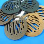 """3"""" Round Boss Laser Cut   Wood Earrings 3 colors .54 per pair"""