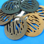 "3"" Round Boss Laser Cut   Wood Earrings 3 colors .54 per pair"