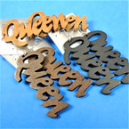 "3"" Queen Theme Laser Cut   Wood Earrings 3 colors .54 per pair"