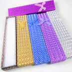 "1.5"""" X 8.5"" Metallic Long Gift Boxes w/ Ribbon .55 each"