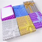 "2.75"" X 3.5"" Metallic Square Gift Boxes w/ Ribbon .55 each"