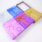"2.75"" X 3.5"" Metallic Square Gift Boxes w/ Metallic Ribbon .55 each"
