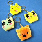 "2"" Mixed Animal Squishy Keychains 12 per pk .50 each"