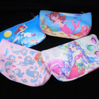 "4"" X 6"" Mermaid Theme Zipper Bag w/ Wrislit 12 per pk .58 each"