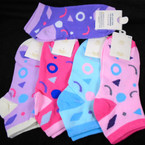 Multi Pattern Colorful  Ladies Socks Fits Size 6-10  Asst Colors .56 per pair