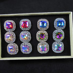 /Brillant Gold & Silver Crystal Stone Fashion Rings (928) 12 per bx  .56 each