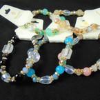 Best Value Crystal Stone  & Glass Fashion Beaded Stretch Bracelets .60 each