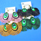 "New Style 2.5"" Fringe Fashion Earrings Asst Colors .54 per pair"