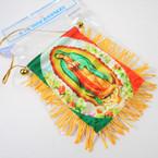"""4"""" X 6"""" Banner Tassel Flag Guadalupe 12 per pk .54 each"""