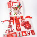 """7"""" X 9"""" Best Quality Christmas Gift Bags Matt/Glitter 12 per pk .54 each"""