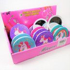 Unicorn Theme Round DBL Compact Mirror in Display (2634) .56 each