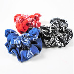 2 Pack Bandana Print Scrungi 3 colors .54 per set