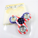 """SPECIAL 3"""" USA Theme  Hand Spinners sold by dozen  .40  each"""