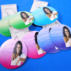 """2.75"""" Round Michelle Obama  Wood Earring Becoming Theme (2157)  .54 each pair"""