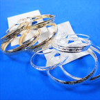 Value Pack 3 Pair Gold/Silver Hoop Fashion Earrings .54 per set