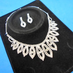 Elegant Clear Rhinestone Necklace Set (31) sold by set  $ 3.00 ea set