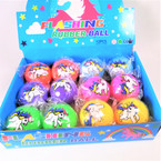 "2.5"" Light Up Unicorn Bounce Balls 12 per display bx .60 each"