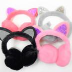 Winter Fury Ear Muff w/ Sparkle Cat  Ears  12 per pk $ 2.00 each