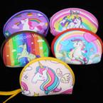 "New 4.5"" Unicorn Theme Zipper Bags Mixed Styles .58 each"