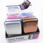 """3"""" X 4"""" Hard Plastic Case Card Caddy Wallet Mixed Color 12 per unit .65 ea pc"""