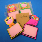 "4"" Magnetic Notepad OWL Theme 12 per pk   .56 each"