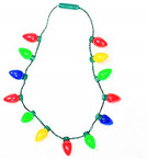 Long 13 Large Bulb Christmas Necklaces w/ 6 Light Functions sold by pc $ 2.25 each