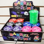 "3"" Big Size Bright Color Barrel of Slime 12 per display bx .60 ea"