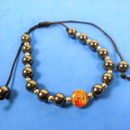 Round Hemalite Bead Bracelet w/ DBL Side Guadalupe 12 per pk  .56 each