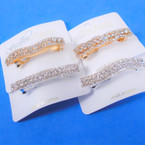 "2.5"" Mixed Style Gold & Silver  Rhinestone Hair Clips  12 per pk .56 ea"