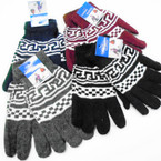 Unisex Knit w/ Pattern Magic Gloves One Size Asst Colors .60 per pair