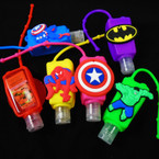 "3"" Character Theme Scented Hand Santizers 12 per pk  @ .56 ea"