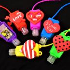 "3"" Heart/Love Theme Scented Hand Santizers 12 per pk  @ .56 ea"