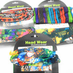 Multifunctional Scarf/Headwear Mix Print Theme .58 each